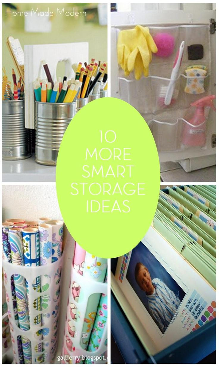 Home Made Modern: 10 (more) Smart Storage Ideas
