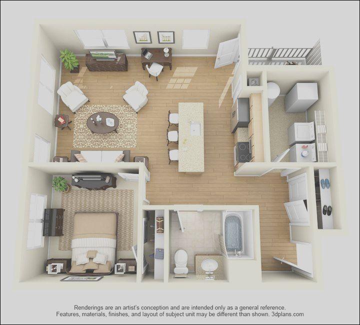 8 Fancy One Bedroom Apartment Interior Design Stock Desain Rumah Rumah Desain
