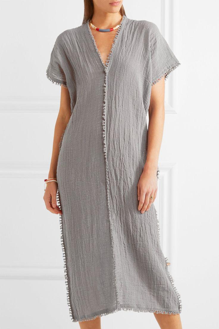 Caravana | Chaac tasseled cotton-gauze dress | NET-A-PORTER.COM