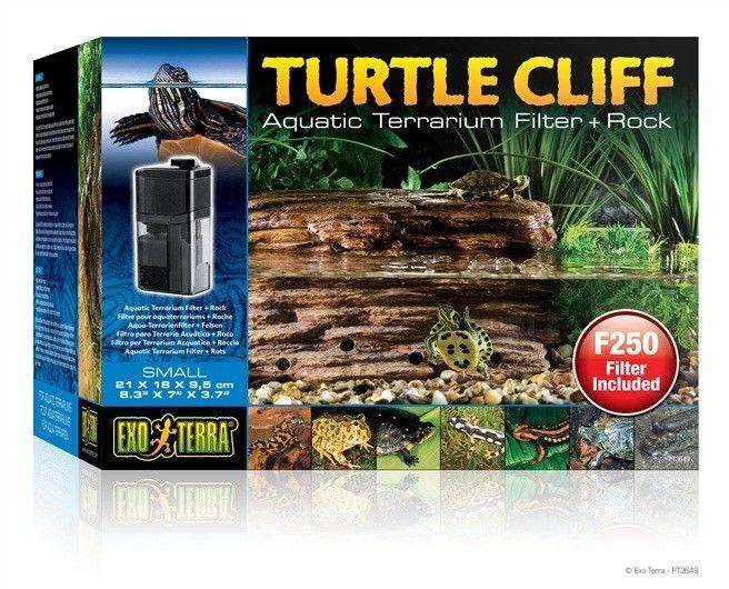 Filtro Roca Tortuga EXOTERRA  Proporciona una área ideal para calentamiento o terrestre para tortugas y otros animales en terrarios semi acuáticos.