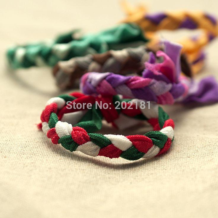 30 цветов плетенки косы лента для волос веревка 100 шт./лот хвост держатель эластичные волосы группы галстуки эми джей как связи волос