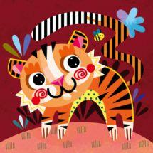 Jungle Tiger Nursery Canvas
