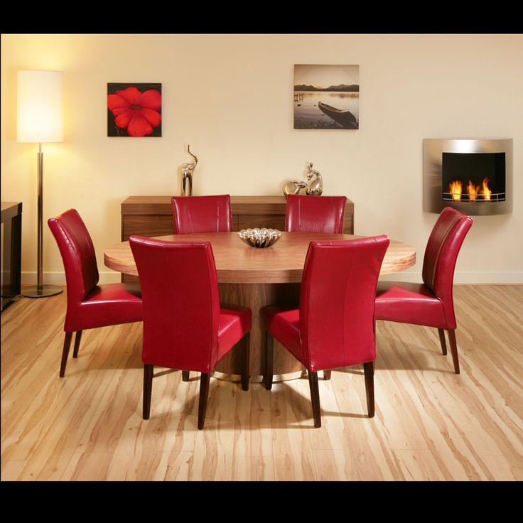 Dining Table And 6 Red Leather Chairs Places To Visit Pinterest Chairs