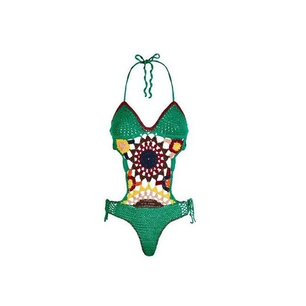 Tommy Hilfiger Multi-Coloured Crochet Swimsuit ($940) ❤ liked on Polyvore featuring swimwear, one-piece swimsuits, crochet swimwear, swim suits, tommy hilfiger swimwear and swimming costume