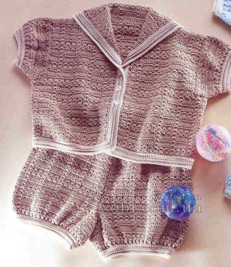 crocheted baby kit