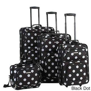 Rockland Polka Dot 4-piece Expandable Luggage Set by Rockland