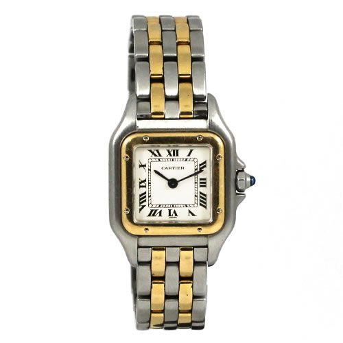 get now pre owned second hand cartier panthere w25029b6 ladies watch for sale at discounted. Black Bedroom Furniture Sets. Home Design Ideas