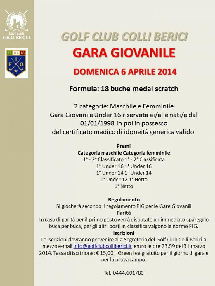GARA GIOVANILE 6 aprile 2014 - Golf Club Colli Berici - Vicenza, Veneto, Italy