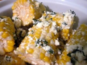 ... with gourmet corn on the cob. (Corn on the Cob with Mint-Feta Butter