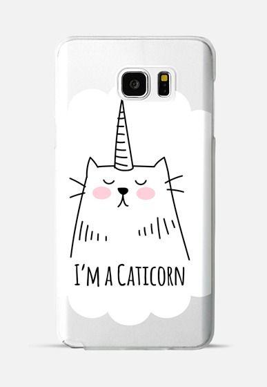 I'm a Caticorn - Cat - Unicorn Galaxy Note 5 case by Happy Cat Prints | Casetify