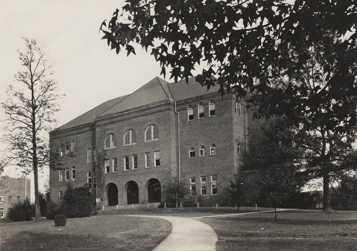 Old Main, an administrative building on the East Lake campus of Howard College in Birmingham,