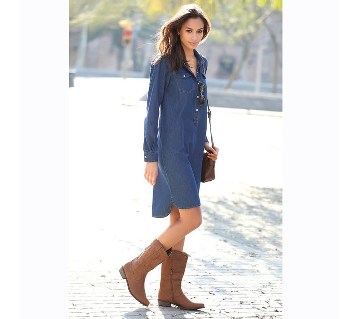 Asymetrické džínsové šaty | modino.sk  #modino_sk #modino_style #style #fashion #newseason #autumn #fall