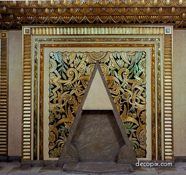 Look At This Crazy Fireplace Heavenly 20th Century Fox Nyc Art Deco Pinterest Fo And Architecture