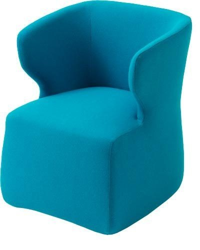 'Ned' wool chair in Kvadrat 'Steelcut Trio 2 Turquoise 853' fabric, $1792, Jardan.