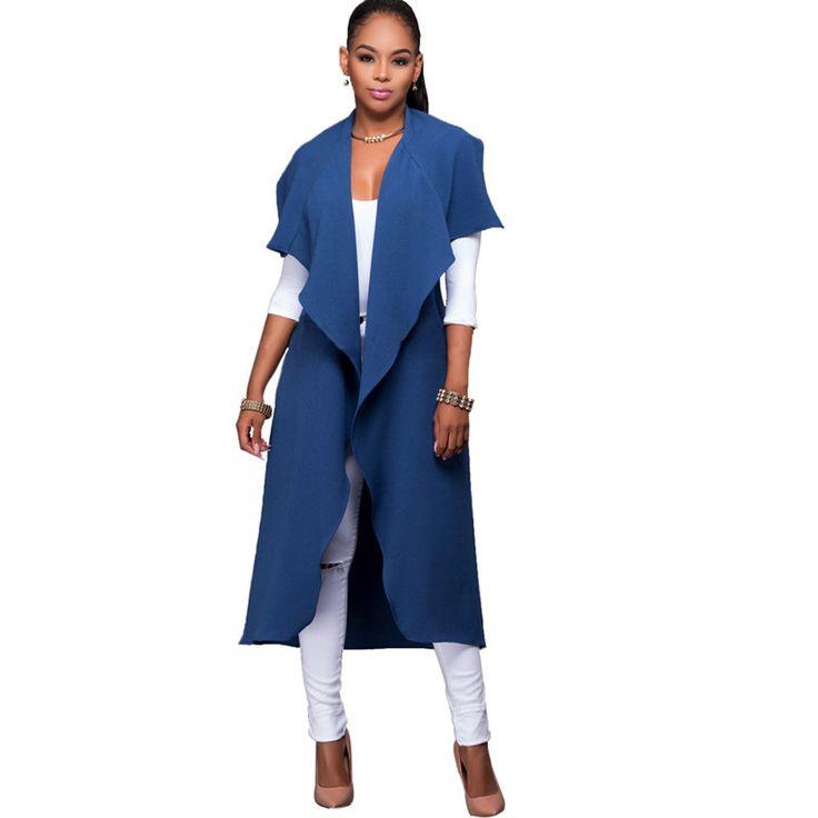 New Women Autumn Sexy Trench Coat Long Black Blue Office Casaco Party Night Club Coats Plus Size Sobretudo Feminino