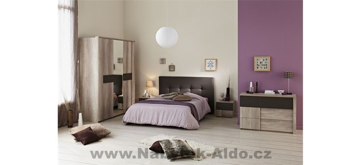 Moderní ložnice Anouk-Manon 3684 - díly