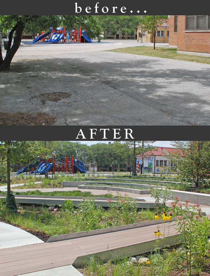 Garden Design Before And After garden design - before and after morrill math and science school