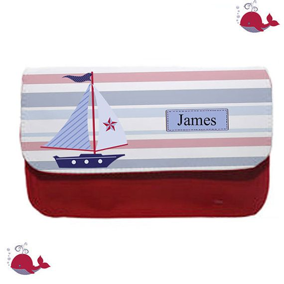 Personalised pencil case ship ahoy let's go sailing by cjcprint