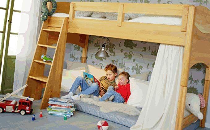 BioKinder 22732 Noah Spar Set Kinder Hochbett aus Massivholz