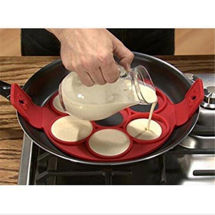 1 Silikon Pancake Macher - Ring Muster für die Kuche