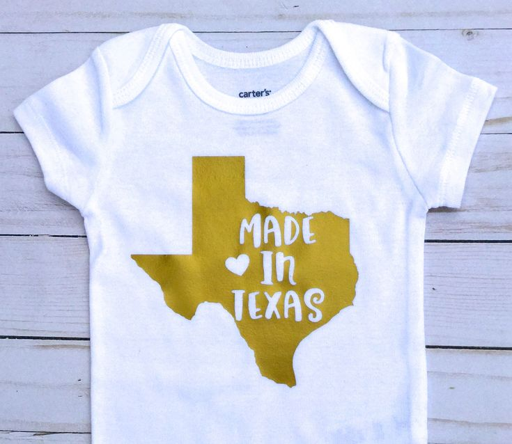 Made in Texas/ Gender Neutral/Baby Shower Gift/ White and Gold/Baby Announcement/Baby Boy Onesie/ baby girl Onesie/ Texas baby/ by sunnyvilledesigns on Etsy https://www.etsy.com/listing/555759666/made-in-texas-gender-neutralbaby-shower