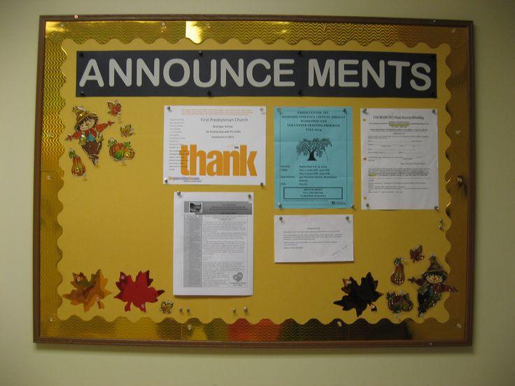 Sept. 2014 Announcements Sunday school classroom, School