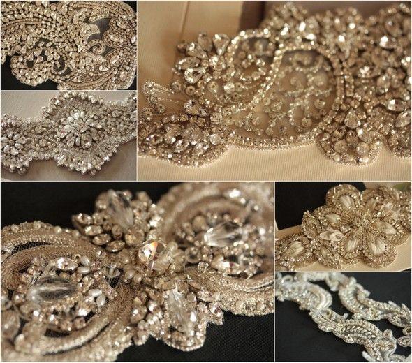 Пояса для свадебного платья