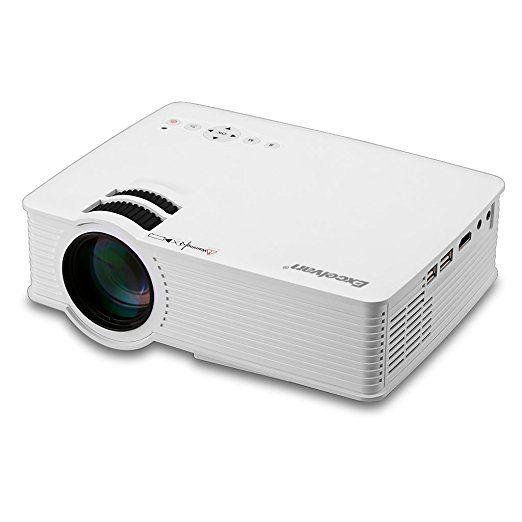 Excelvan EHD09 Mini Projecteur LED 800x480 Pixels 1200 Lumens Home Cinema Théâtre PortablesHDMI / USB / SD / AV / 3,5 mm avec un Câble HDMI