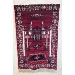 Vintage Hisar Tekstil Kelim Rug from Istanbul Turkey. 110cm x 69cm. Wall hanging.