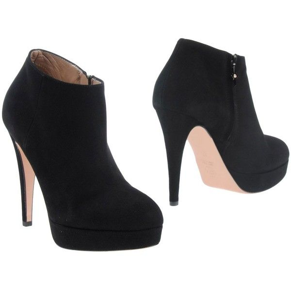 Good-On-Heels Shoe Boots (£84) ❤ liked on Polyvore featuring shoes, boots, ankle booties, heels, sapatos, black, stiletto booties, black boots, heeled ankle booties and black stiletto booties