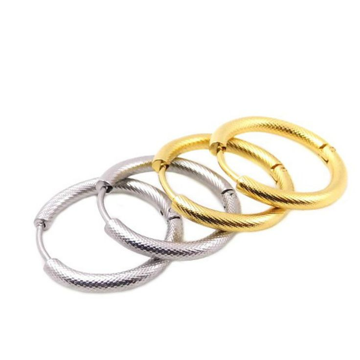 Find More Hoop Earrings Information about 21mm Promotion New 2016yr Round Hoop Earrings for Women Fashion Fine Jewelry for Wedding Circle  Gold Plated Stainless Steel,High Quality jewelry india,China earring fashion jewelry Suppliers, Cheap earring jewelry supplies from MSX Fashion Jewelry on Aliexpress.com