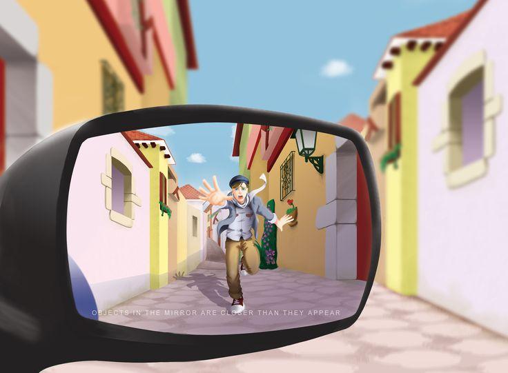 Hombre corriendo  Ilustración digital