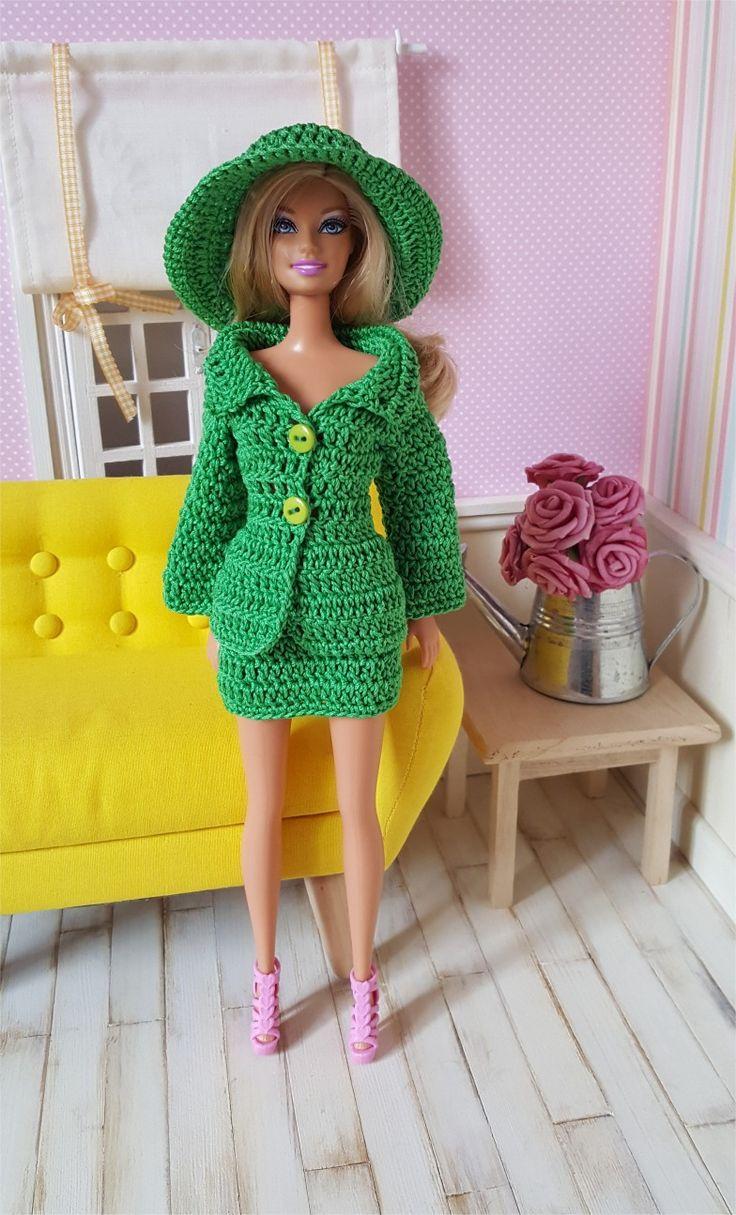 124- FICHE PATRON CROCHET Ensemble Tailleur pour poupée Barbie : Jeux, jouets par atelier-crochet