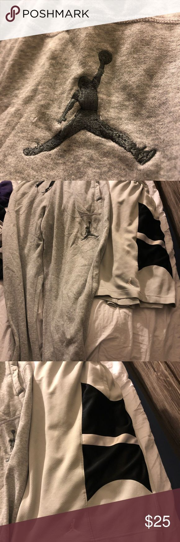 Jordan sweats and b-ball shorts Sweats: Large basketball Shorts :XXL Shorts Athletic