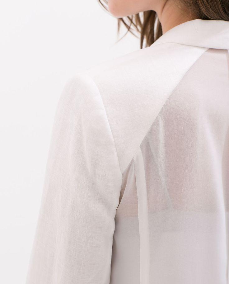 linnen blazer from zara seethrough