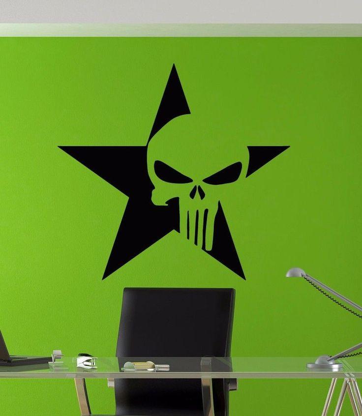 Punisher Logo Star Decal Wall Decal Decor Wall art sticker tr1884