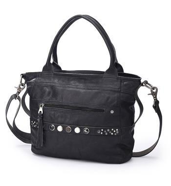 Noosa Amsterdam Pure Bag Classic Shopper. Deze Noosa shopper kan als schoudertas, maar ook als handtas gebruikt worden. Aan de voorzijde is ruimte voor 5 chunks. Handgemaakt in India - Zwart - NummerZestien.eu