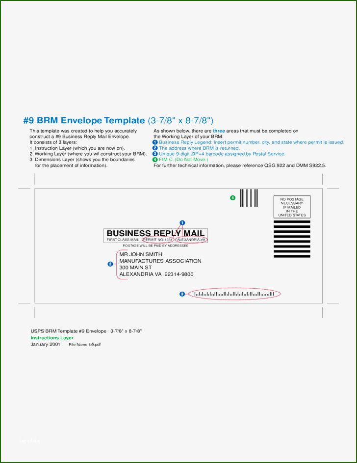 13 Marvelous Business Reply Mail Template Mail Template Envelope Template Business Envelopes