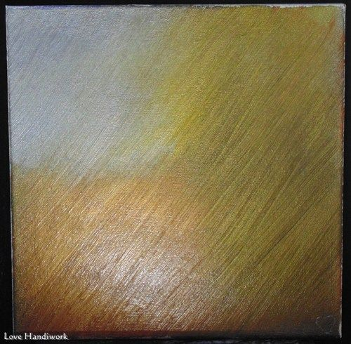 "Love 6 - METALLIC Silver, Gold, Copper, & Bronze 12""x12"" Painting"