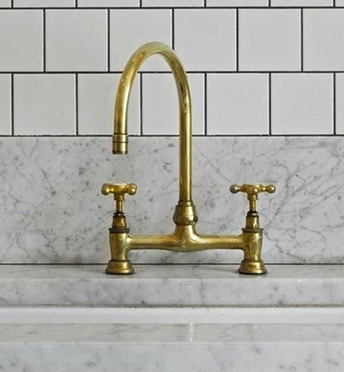 Great inspiration. Darker finish on pulls.Traditional faucet