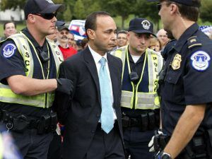Democrat Congressman Handcuffed After Refusing To Comply With Police & Federal ICE Officers