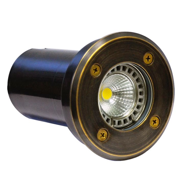 Decimax - 12v Recessed Light (100mm or 120mm) - Solid Brass (Rustic Bronze)