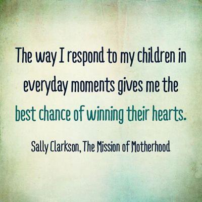 The best chance of winning my child's heart