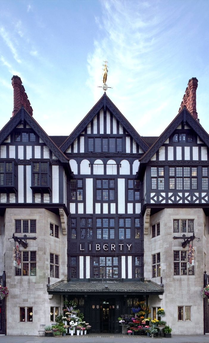 Liberty London ~ pricey store, facade made to mimic Tudor architecture ~ but if you can only stop in one department store in London, make it here! Lots of nooks with nifty affordables to take home as gifts.