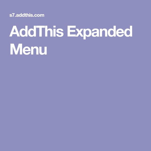 AddThis Expanded Menu