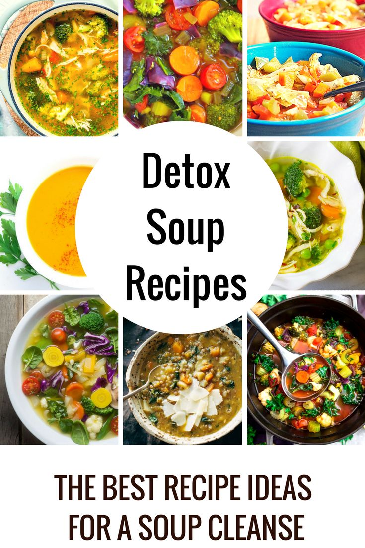 Detox Soup Recipes - Detox Soups take healthy ingredients and puts them together in a delicious soup. These soups are easy to digest which makes it easier for your body to absorb the the good nutrients!