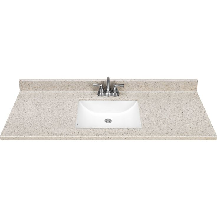 Shop Style Selections Dune 49 In W X 22 In D Dune Solid Surface Integral Single Sink