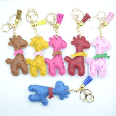 leather animal charms