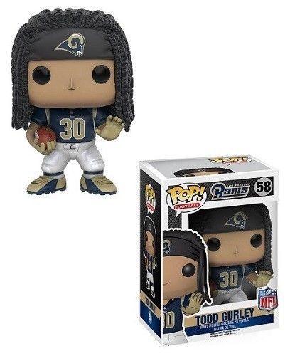 "Funko Pop Todd Gurley NFL Los Angeles Rams 3.75"" Vinyl Bobble Head Figure Toy #Funko #LosAngelesRams"