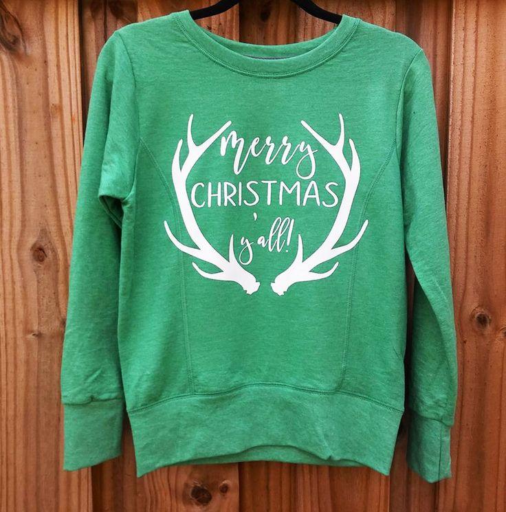 Cali Boutique - Merry Christmas Y'all Sweatshirt, $24.99 (http://shopcaliboutique.com/merry-christmas-yall-sweatshirt/)
